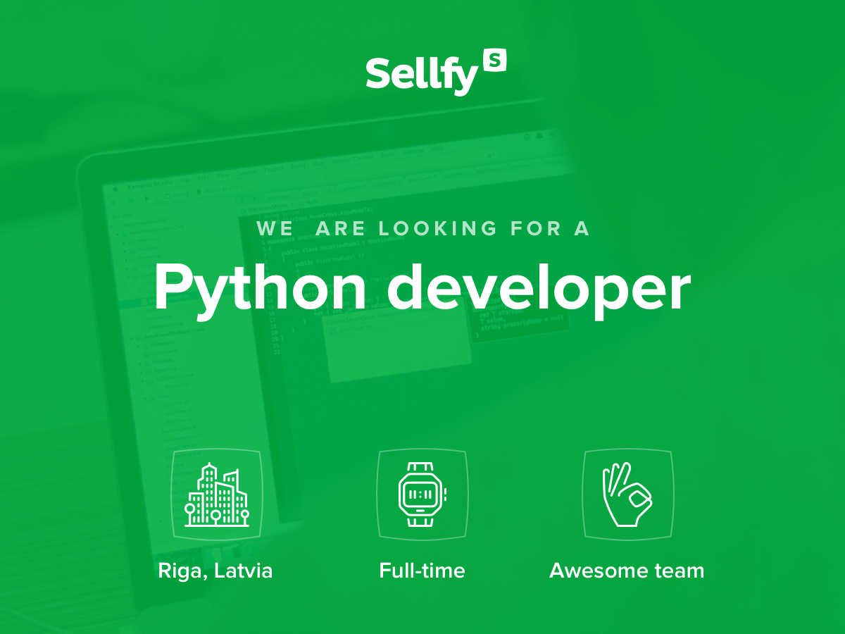 Sellfy Python developer