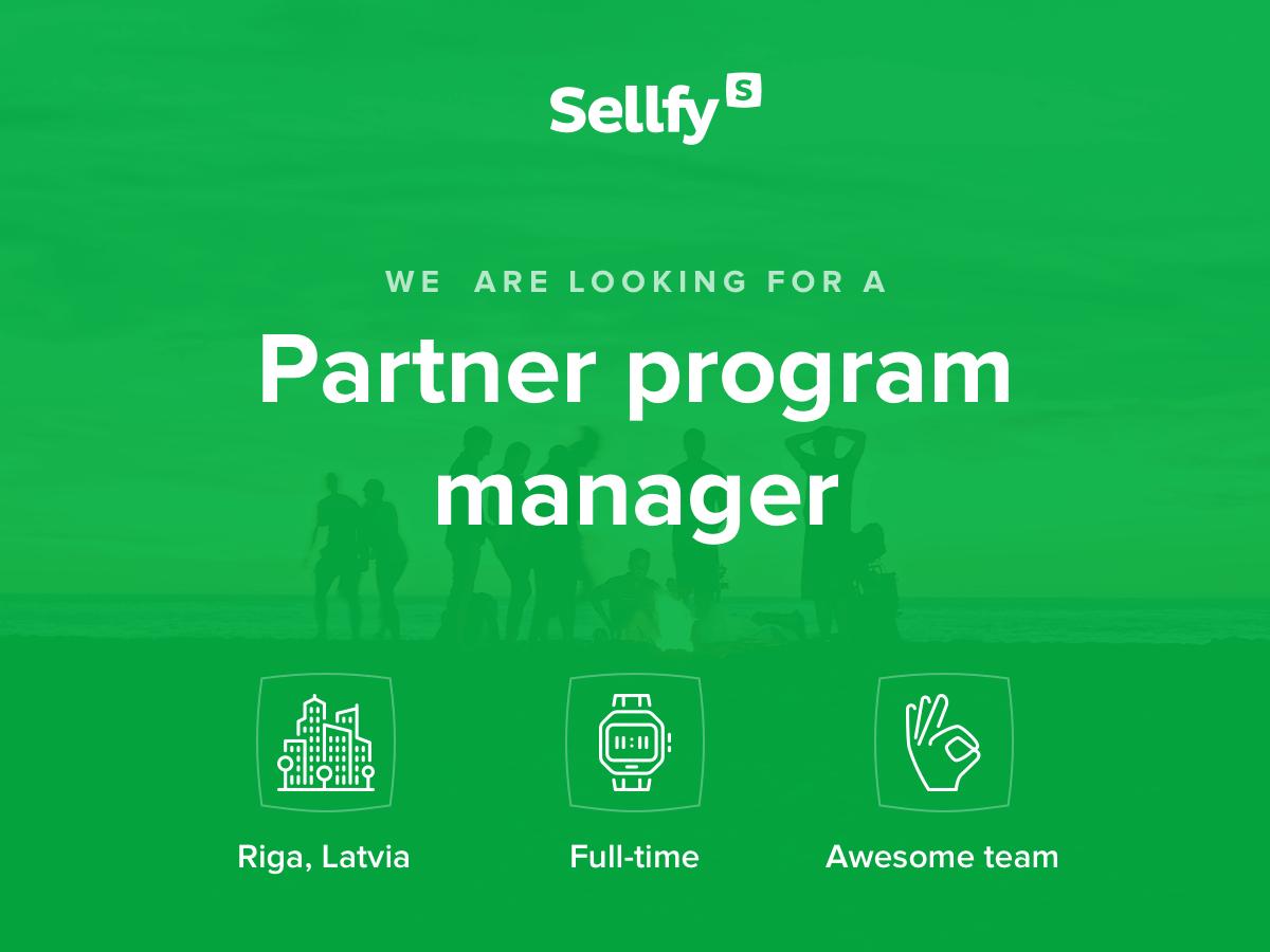 Sellfy Partner program manager