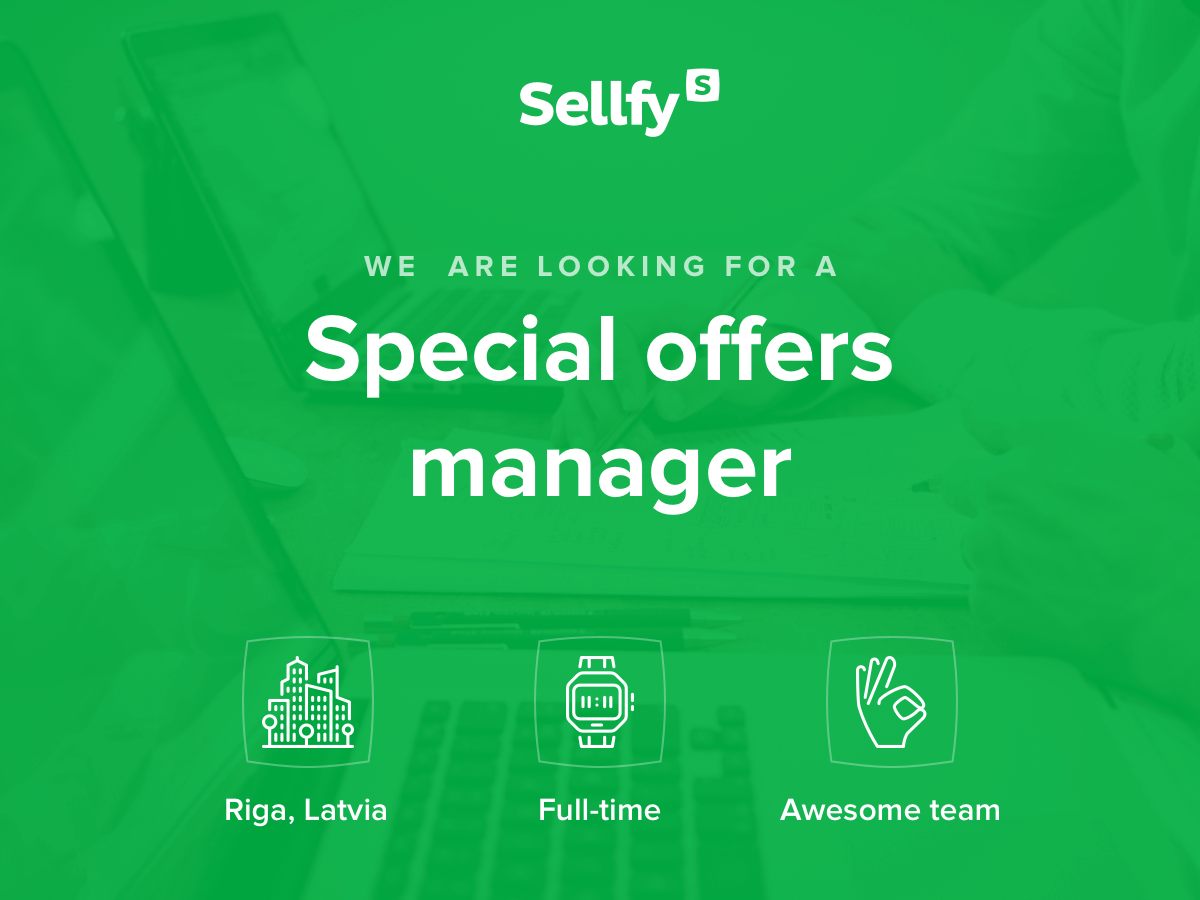 Sellfy Special offers manager